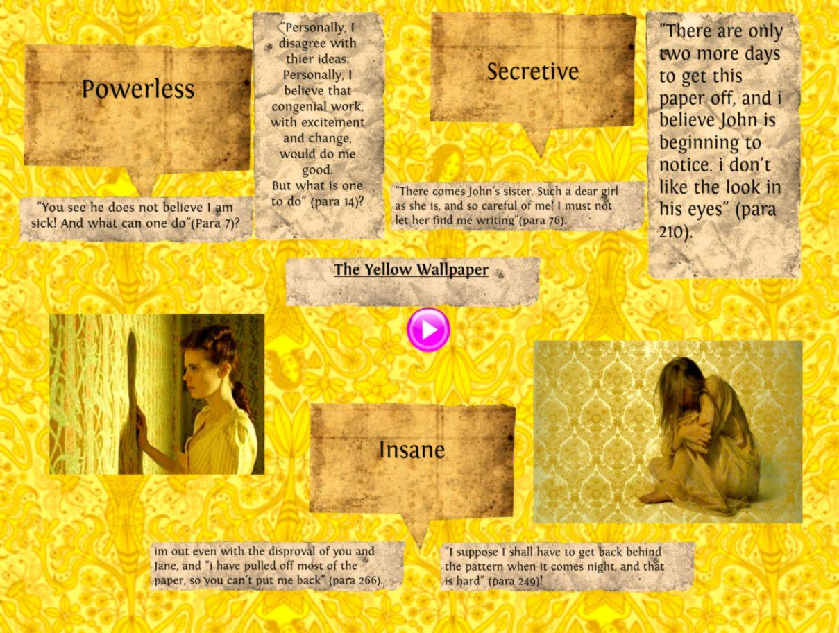 Buy literary analysis New World Bistro yellow wallpaper research