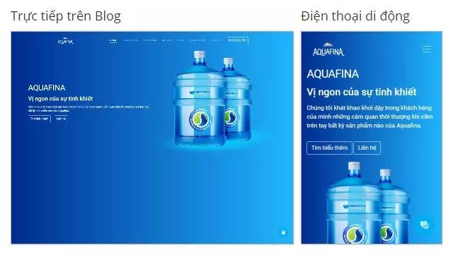 Theme blogspot dịch vụ giao nước uống đóng bình