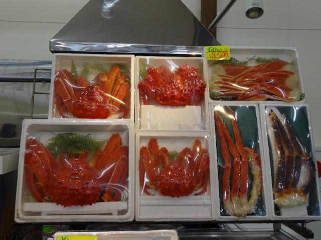crabes géants au marché de Hakodate