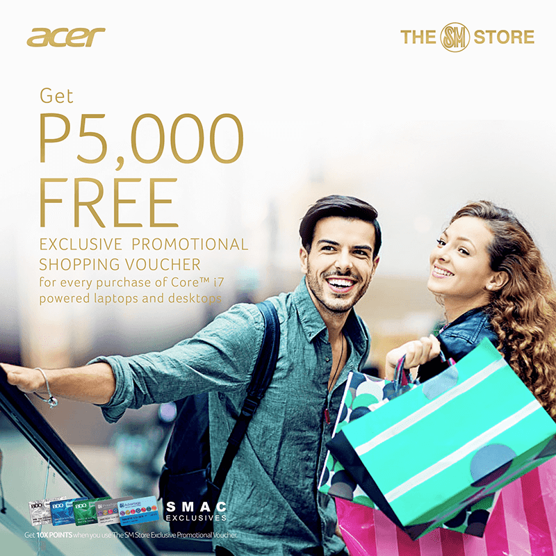 Acer's Holiday Promo entitles customers w/ up to PHP 5K worth of SM GC