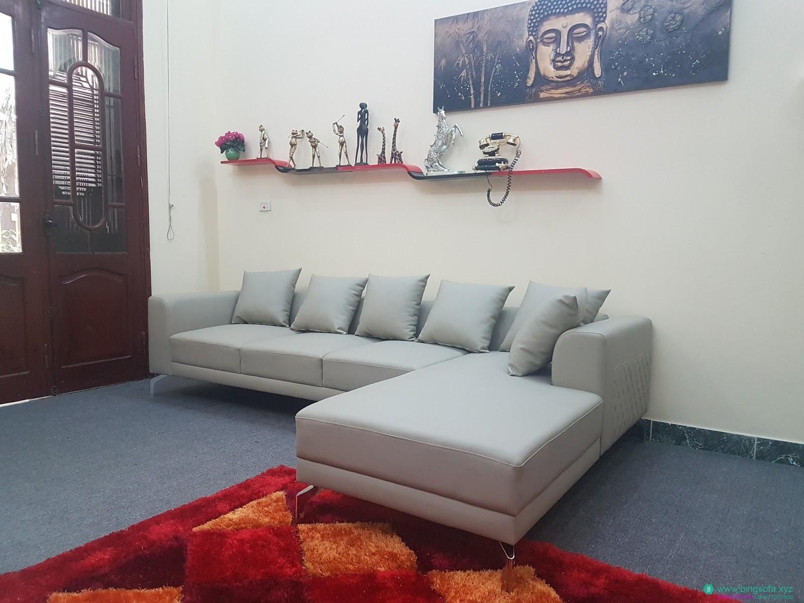 Sofa góc l phòng khách gia đình