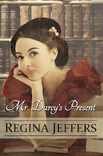 Book cover: Mr Darcy's Present by Regina Jeffers