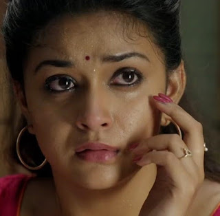 Keerthy Suresh in Pink Dress with Cute Expressions in Saamy Square 3