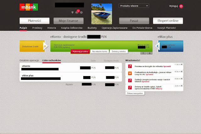 Serwis transakcyjny w mBanku