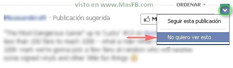 Ocultar contenido Facebook 2013