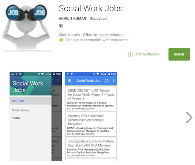 New Social Work Jobs App Is Live in Playstore