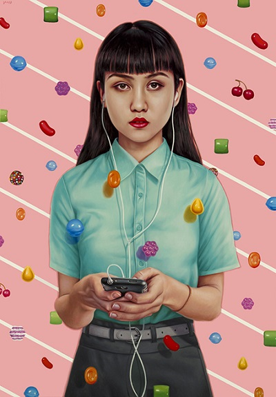 "por Alex Gross - ""Candy Crush"", 2014 