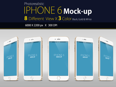 Photorealistic Free IPhone 6 Mock-up PSD