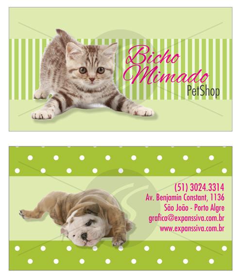 cartao de visita pet shop 11 - Cartões de Visita Pet Shop