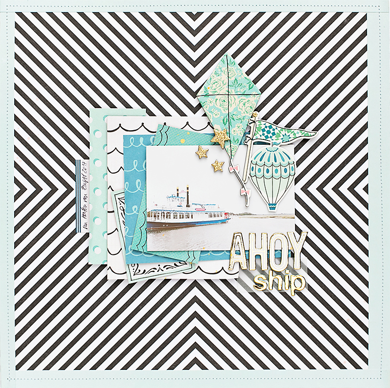 @SandraDietrich @mojosanti for @CratePaper Carousel Scrapbook Page