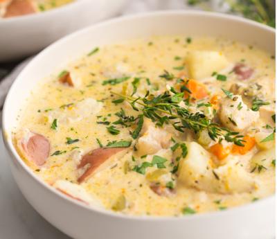 Instant Pot Healthy Chicken Pot Pie Soup #healthy