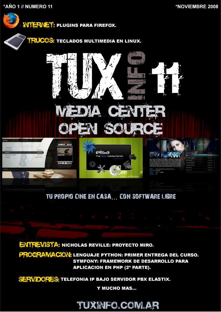 TuxInfo Nro. 11 –  Media center Open Source