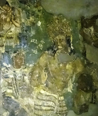 Painting of Vajrapani - guide for Ajanta cave - 1