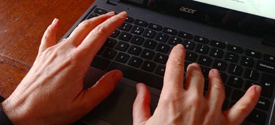 Image of typing by North Mymms News released under Creative Commons