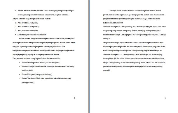 Contoh Makalah Hukum Perdata Format Docx Microsoft Word Contoh Docs