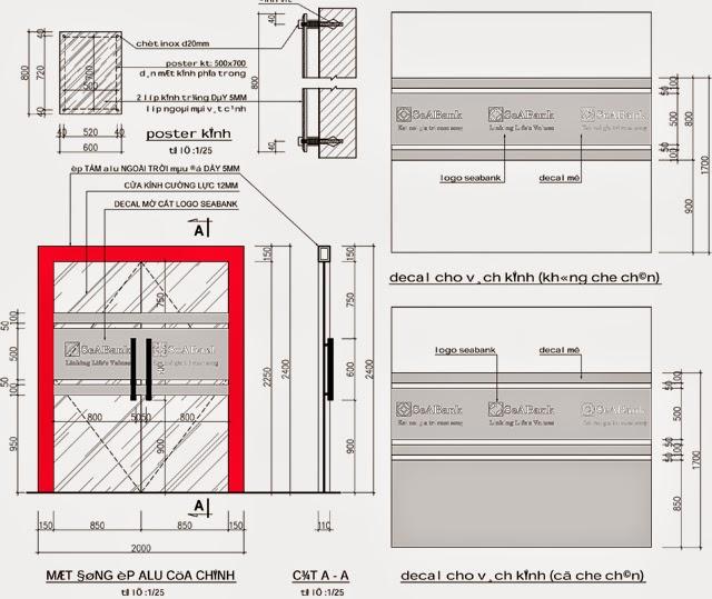mẫu bản vẽ cửa nhôm kính dwg