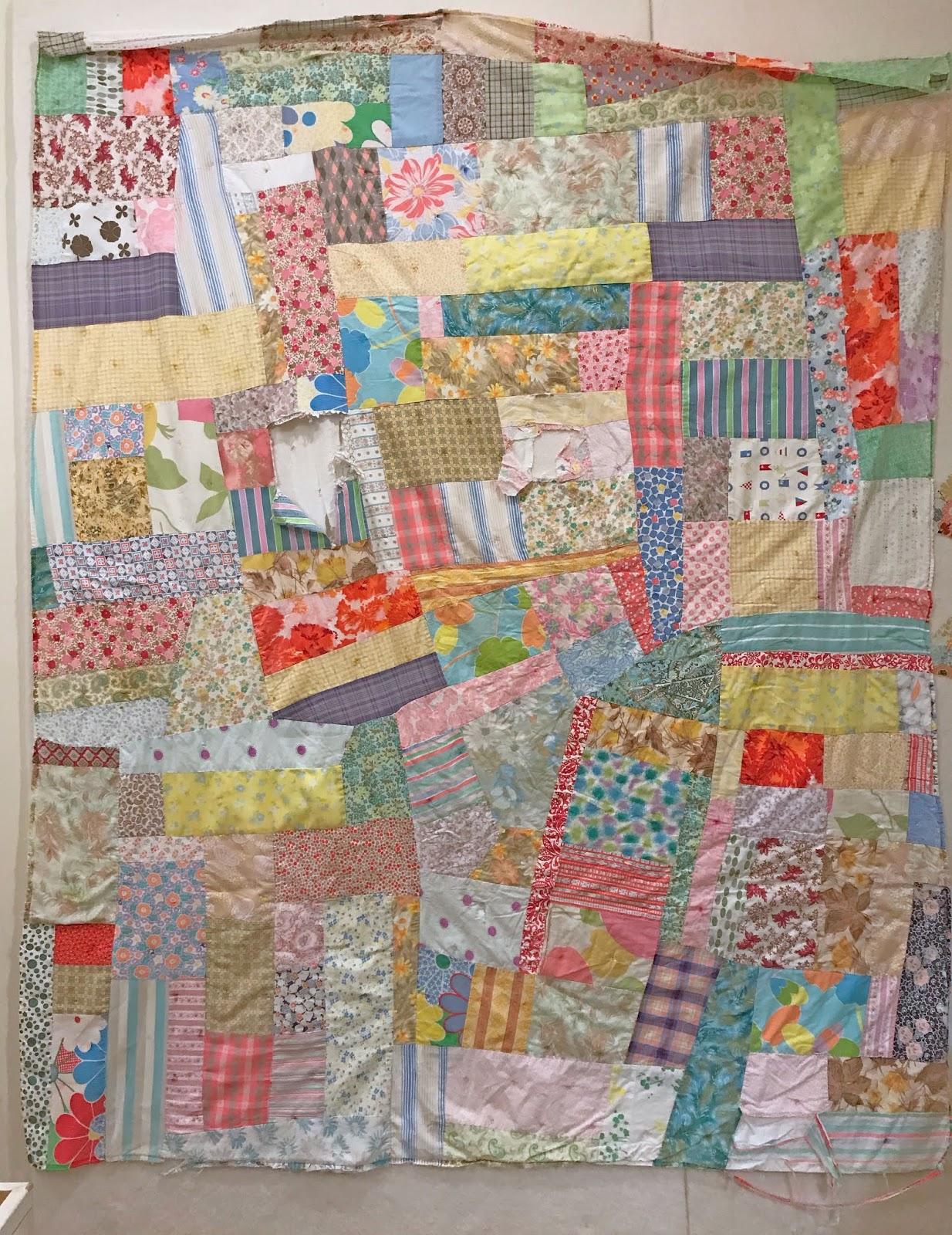 Cheeky Cognoscenti Detour Exploratory Vintage Quilt