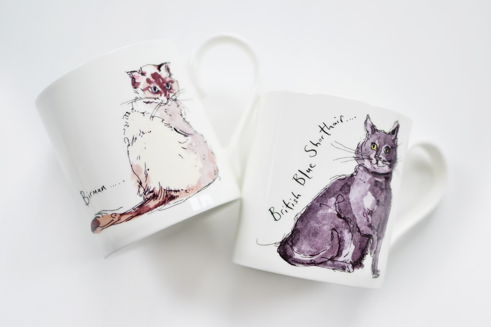 cat mugs, flamingo gifts, madeleine floyd