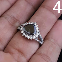 Jual Cincin Berlian Hitam Emas Putih