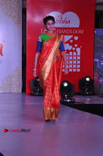 South Indian Celebrities Pos at Love For Handloom Collection Fashion Show  0033.jpg