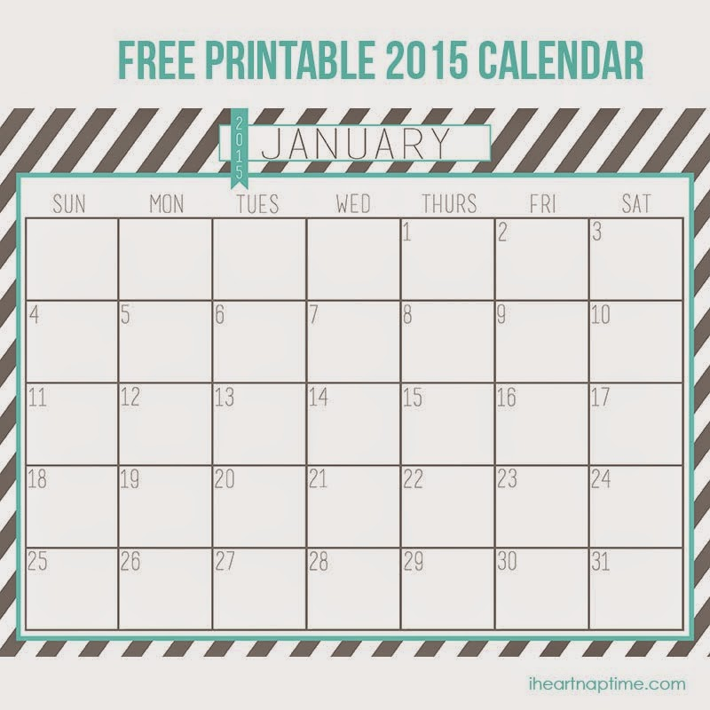 Cute 2015 Monthly Calendar Printable Redbul