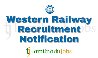 Western Railway Recruitment notification of 2018