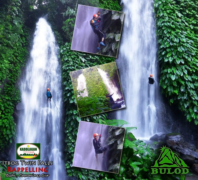 Waterfalls Rappelling at Itbog Twin Falls, Buhi, Camarines Sur