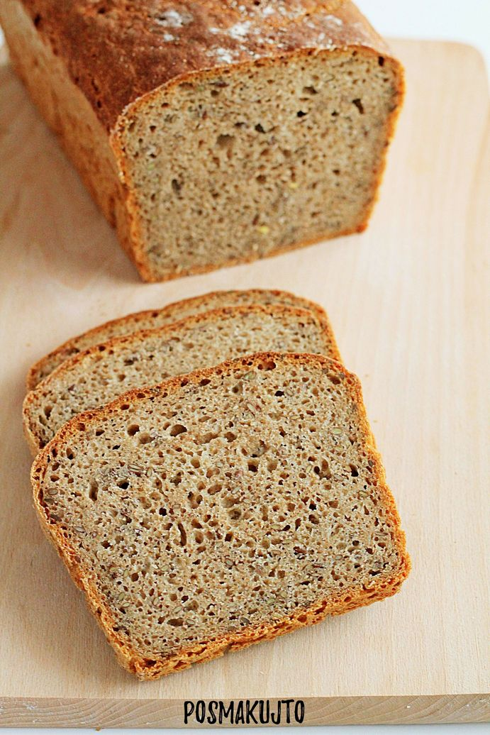 Chleb mieszany na zakwasie z siemieniem lnianym