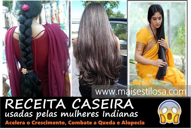 segredo do cabelo das mulheres indianas