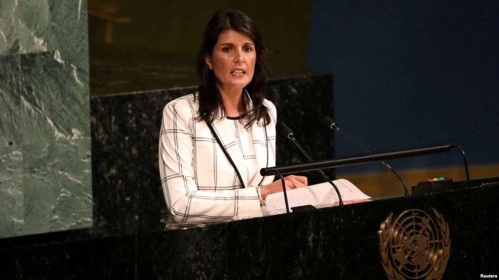 Embajadora de Estados Unidos ante las Naciones Unidas, Nikki Haley / REUTERS