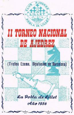 Cartel modificado del II Torneo Nacional de Ajedrez de La Pobla de Lillet