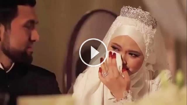 بالفيديو شاهد العروسه التى ابكت العالم يوم خطوبتها لن تصدق ماذا حدث لها جعلت كل من في المكان يصرخ !!