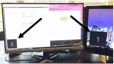 cara membuat laptop dual monitor