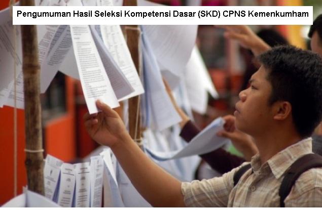 Pembertitahuan Hasil Seleksi Kompetensi Dasar (SKD) CPNS Kemenkumham