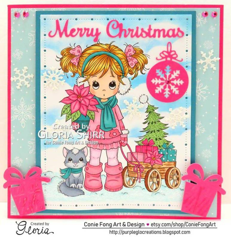 Featured Card at Pearly Sparkles Challenge Blog