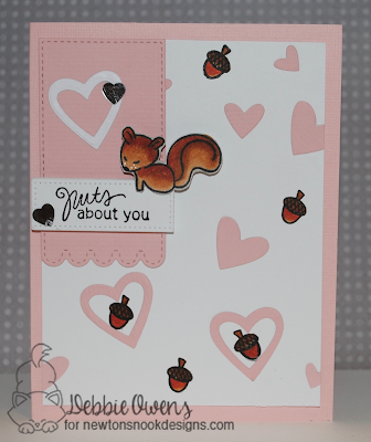 Nuts about you card by Debbie Owens | Sweetheart Tails stamp set by Newton's Nook Designs #newtonsnook