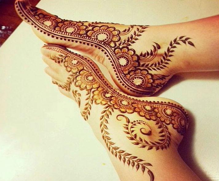 Side Feet Mehndi Designs : Latest shaded mehndi designs 2018 lagao