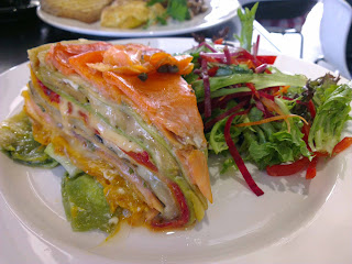 Salmon, vege stack - Impressive