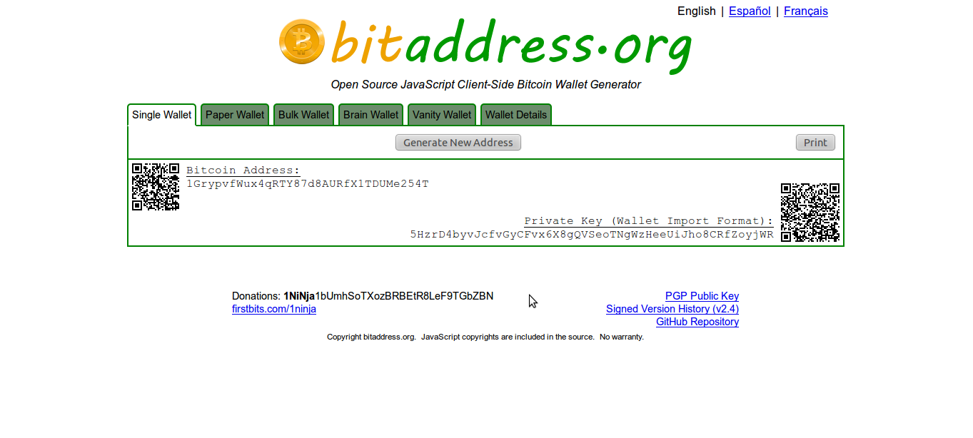 Create bitcoin address from private key - Speed up token limit keyboard