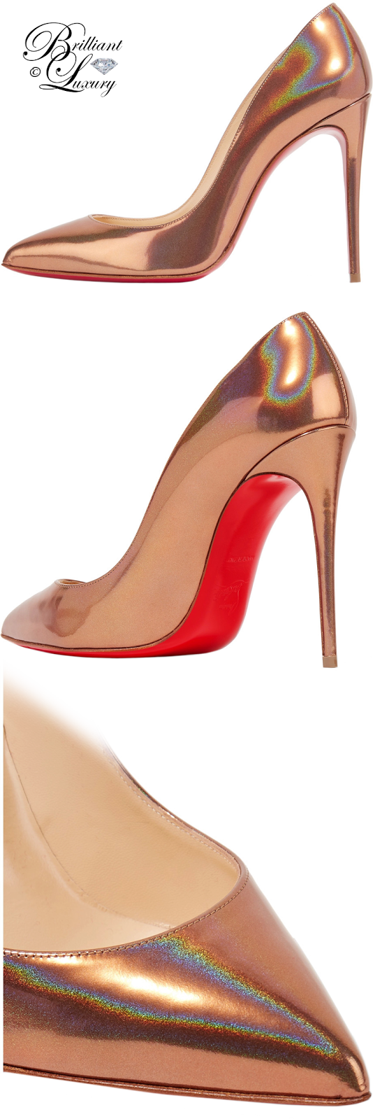 Brilliant Luxury ♦ Christian Louboutin Pigalle Follies Metallic Pumps