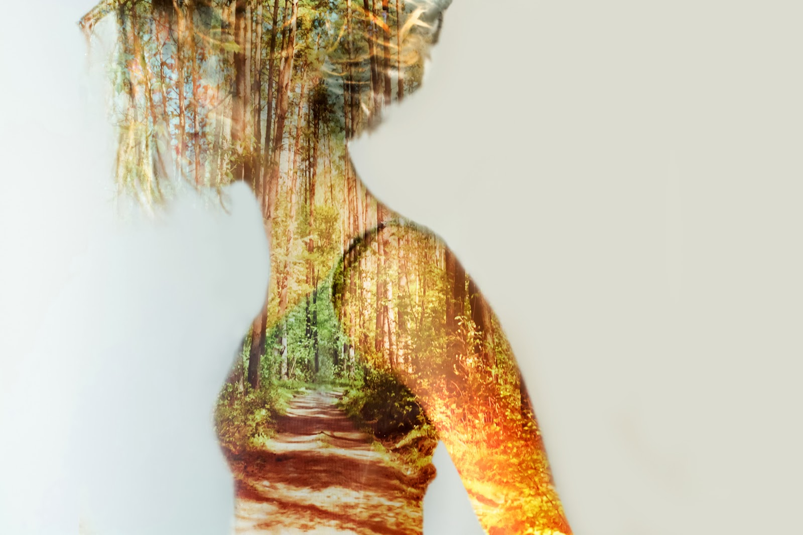 Double, multiple exposure photography. Forest as parallel Universe. Every you is a Universe. Not only one but multiple.So don't be afraid to see them inside yourself, don't be scared to feel and live them. And be brave to let them out and show them to the World. Nina Sinitskaya, Grain Pixels 2014