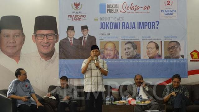 Amien Rais Sebut Malaikat Doakan Jokowi Kalah di Pilpres 2019
