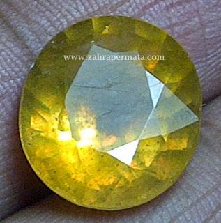 Batu Permata Yellow Saphire - ZP 223
