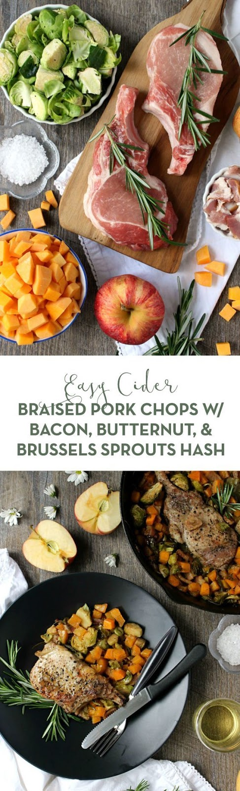 EASY CIDER BRAISED PORK CHOPS W/ BACON, BUTTERNUT, & BRUSSELS SPROUTS HASH  #masonjar #healthy #recipes #greatist #vegetarian #breakfast #brunch  #legumes #chicken #casseroles #tortilla #homemade #popularrcipes #poultry #delicious #pastafoodrecipes  #Easy #Spices #ChopSuey #Soup #Classic #gingerbread #ginger #cake #classic #baking #dessert #recipes #christmas #dessertrecipes #Vegetarian #Food #Fish #Dessert #Lunch #Dinner #SnackRecipes #BeefRecipes #DrinkRecipes #CookbookRecipesEasy #HealthyRecipes #AllRecipes #ChickenRecipes #CookiesRecipes