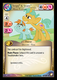 My Little Pony Snips & Snails, Minor Problem Equestrian Odysseys CCG Card