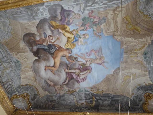 affresco che raffigura Petrarca nel palazzo franzone spinola