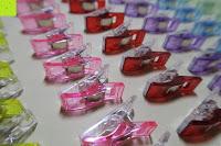 oben: GWHOLE Stoffklammern Wonder Clips Nähen Zubehöre Kunststoff 60 Stück 6 Farben