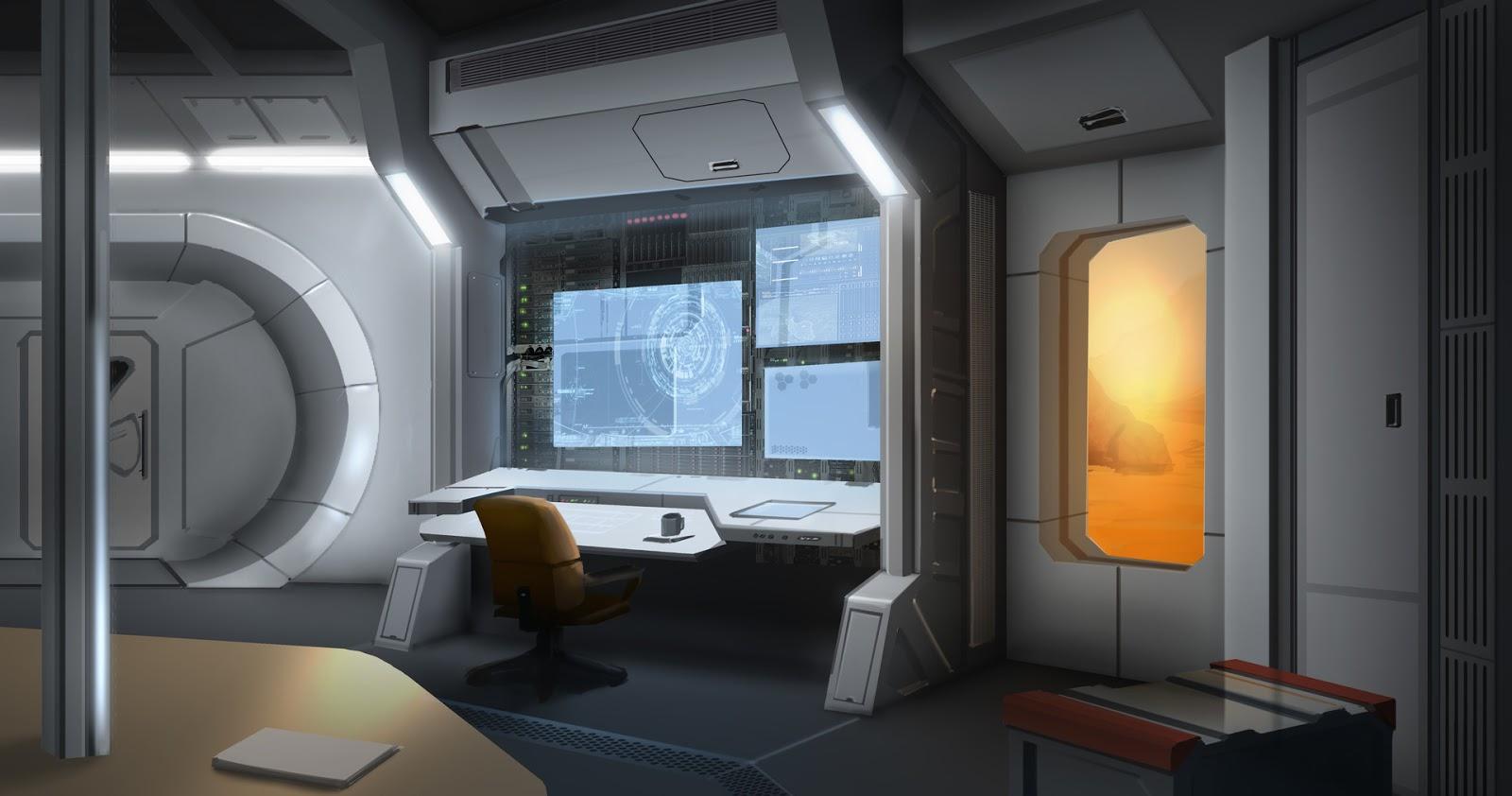 Mars base interior by Alexey Rubakin