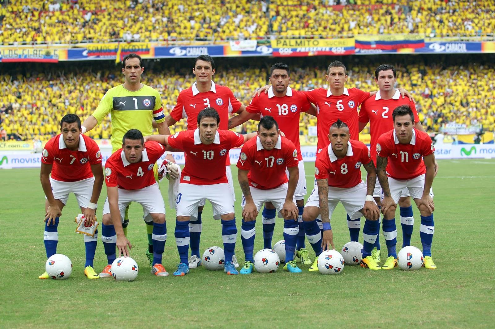 Formación de Chile ante Colombia, Clasificatorias Brasil 2014, 11 de octubre de 2013