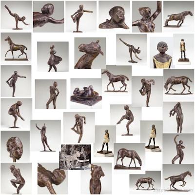 74 Bronze Sculptures cast by The Degas Sculpture Project Ltd.